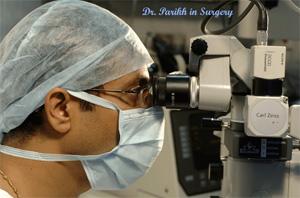 Dr. Vatsal Parikh in surgery