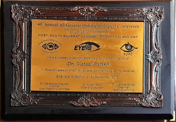 40th Annual All Gujarat Opthalmological Conference 2014
