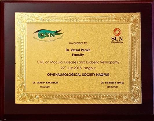 CME on Macular Disease and Diabetic Retinopathy  at Nagpur 2018