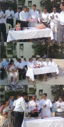 Flag hoisting ceremony done by Dr. Vatsal Parikh  at Shri B.P.K. Sahakari Vidhya Mandir School, Tardeo Road, Mumbai.