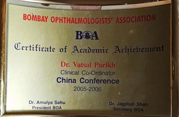 Certificate of Academic Association