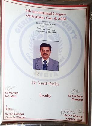 6th International Congress on Geriatric Care & AAM 2008