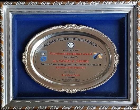 Rotary Club Of Mumbai South, Vocational Excellence Award 2010