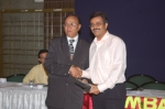 Dr. Vatsal being Felicitated by Dr. Sahu
